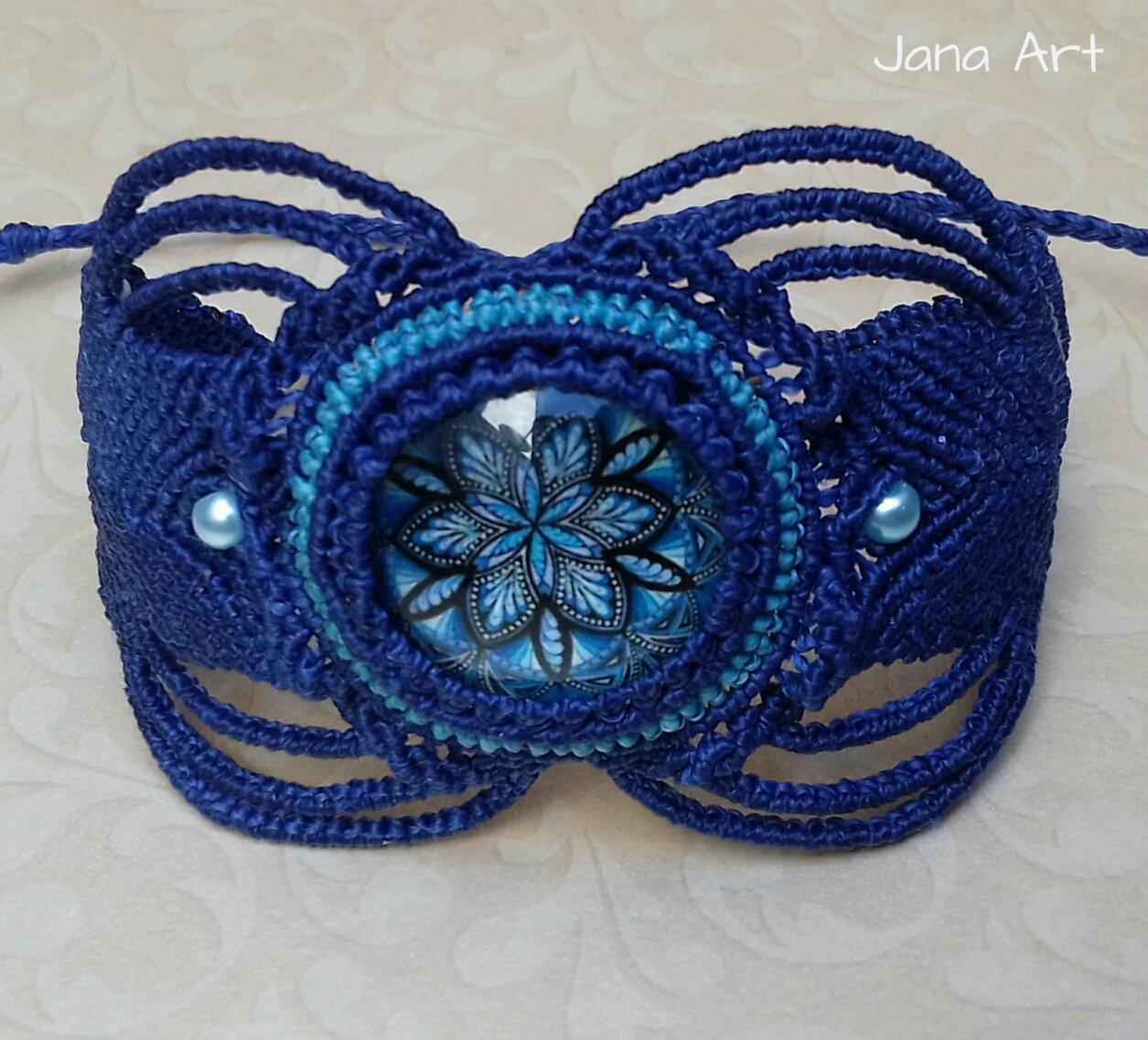 Bracciale Deep Blue Mandala