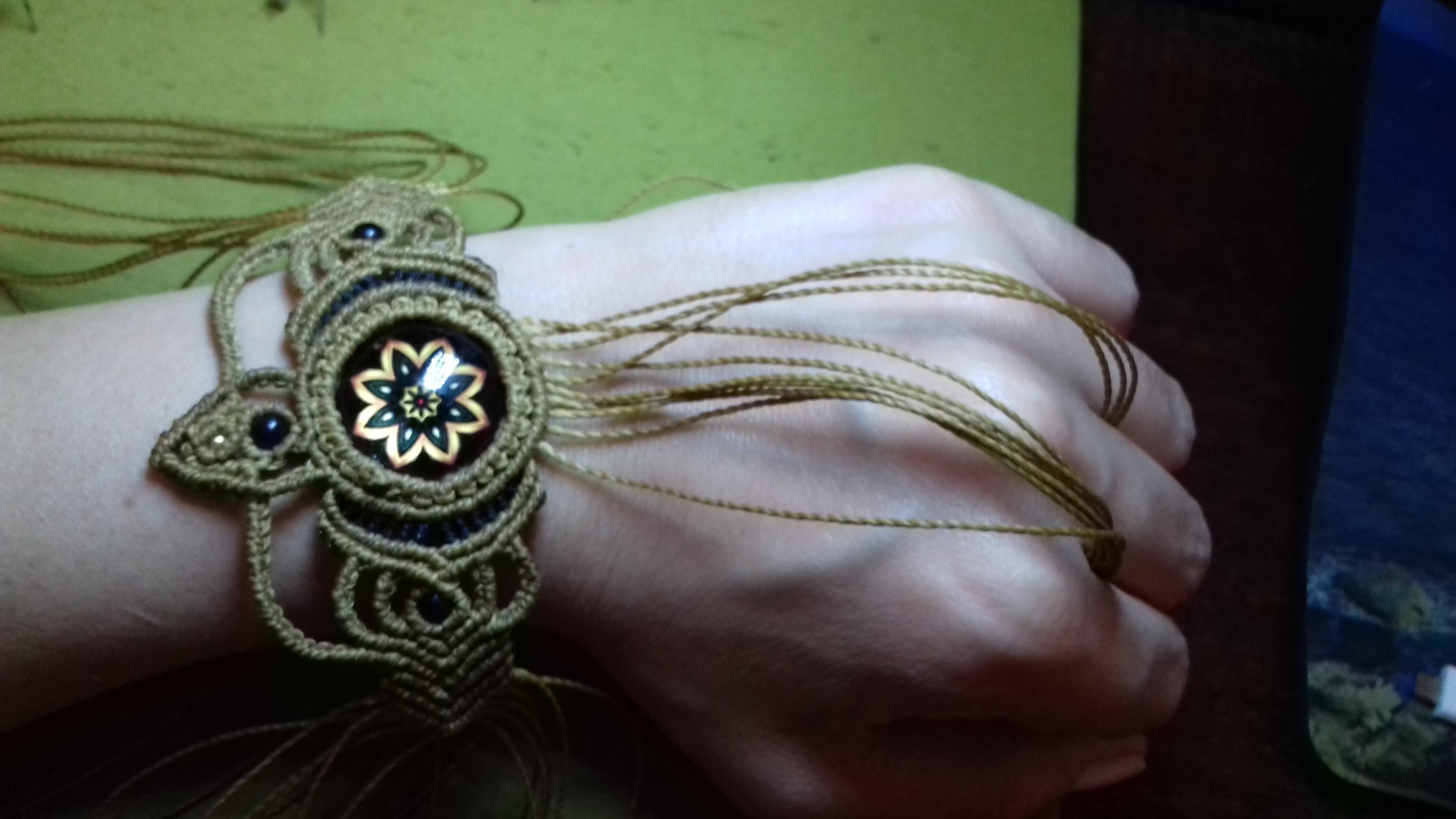 bracciale anello con cabochon