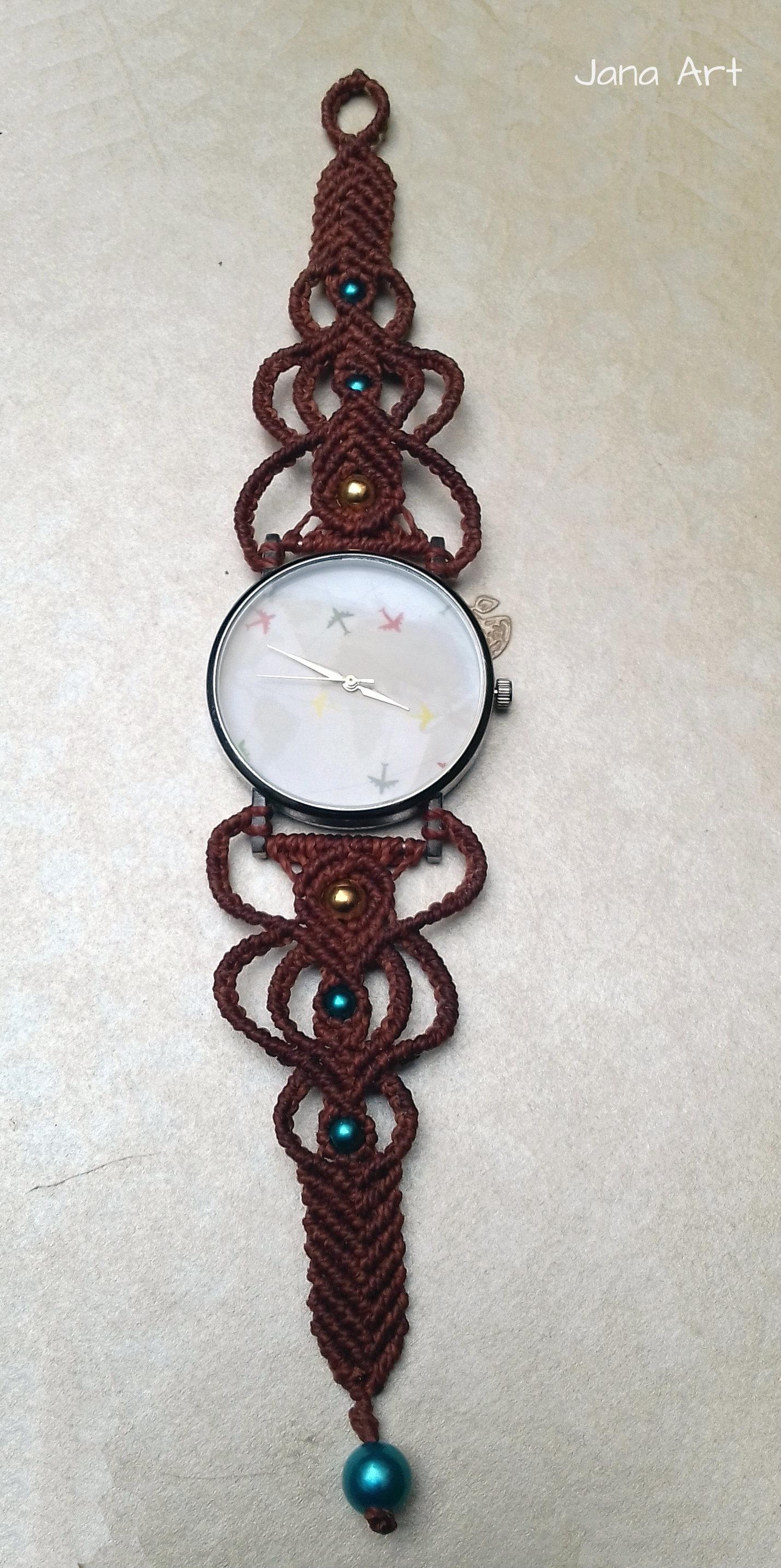 orologi in macramé