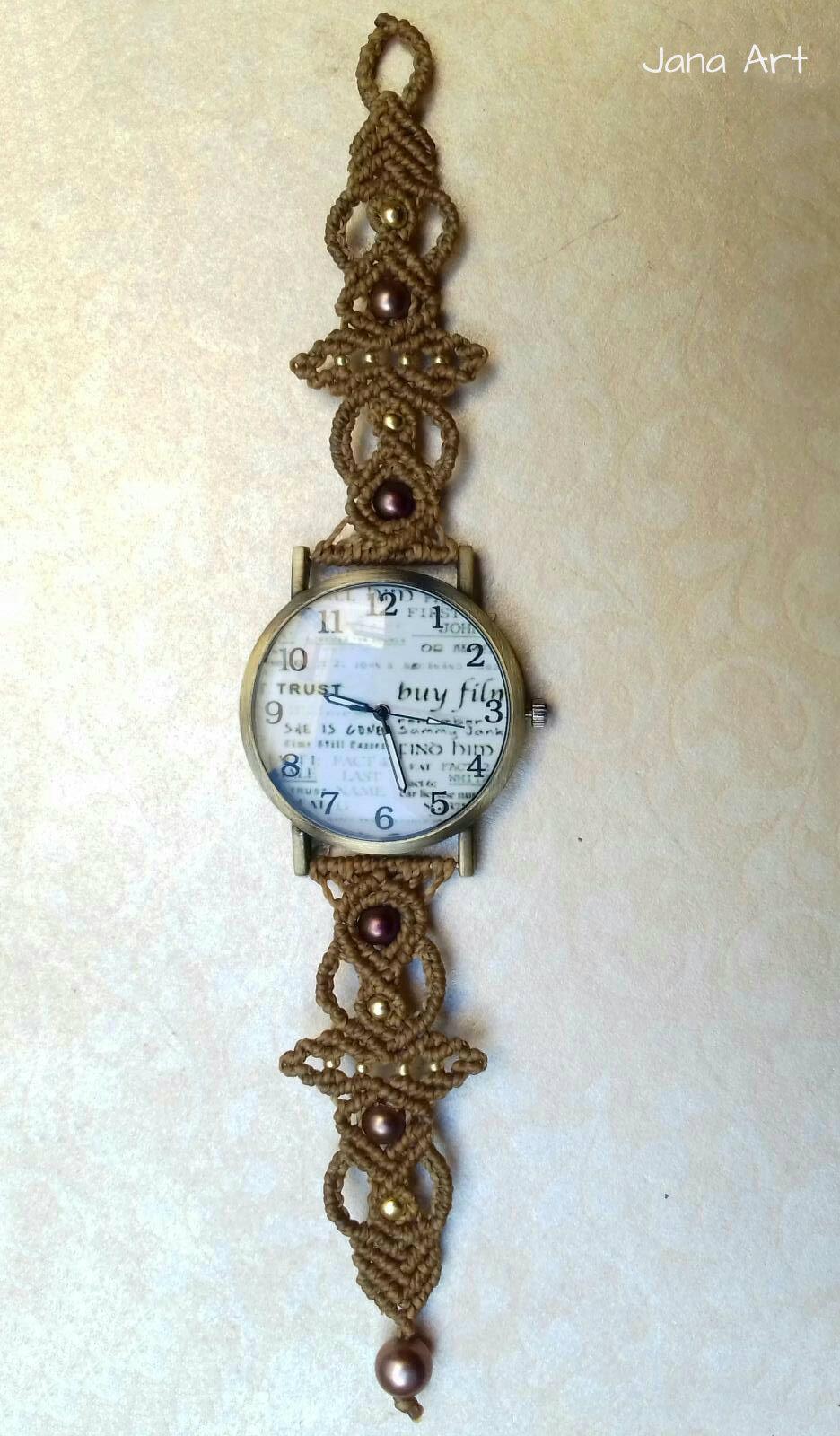 orologi in macramè